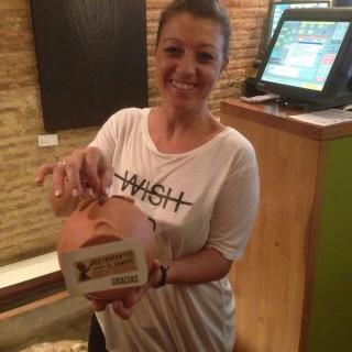 Daniela y nuestra hucha solidaria 'Restaurantes contra el hambre'